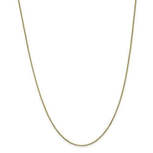 10k Yellow Gold 1.10mm Box Bracelet Anklet Choker Pendant Necklace Chain