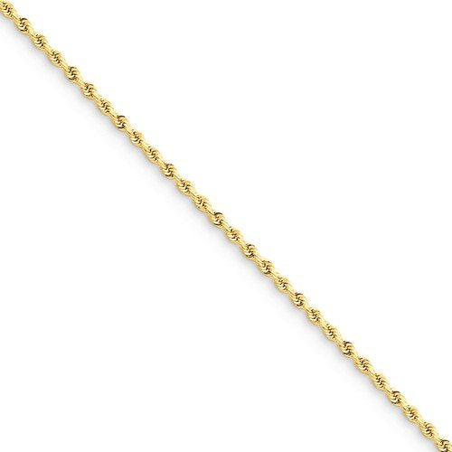 14K Solid Yellow Gold 1.75mm Diamond Cut Rope Bracelet Anklet Choker Necklace Pendant Chain