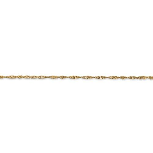 14k Yellow Gold 1.4mm Singapore Twisted Bracelet Anklet Necklace Choker Pendant Chain