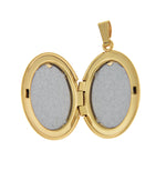 Load image into Gallery viewer, 14k Yellow Gold 17mm x 22mm Oval Locket Pendant Charm Engraved Personalized Monogram
