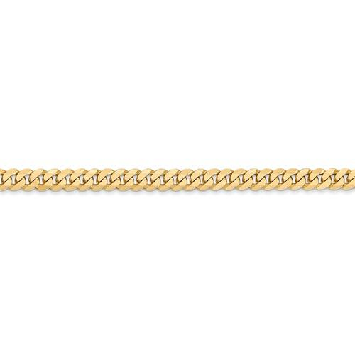 14k Yellow Gold 3.2mm Beveled Curb Link Bracelet Anklet Choker Necklace Pendant Chain