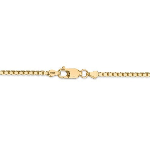 14K Yellow Gold 2.5mm Box Bracelet Anklet Choker Necklace Pendant Chain