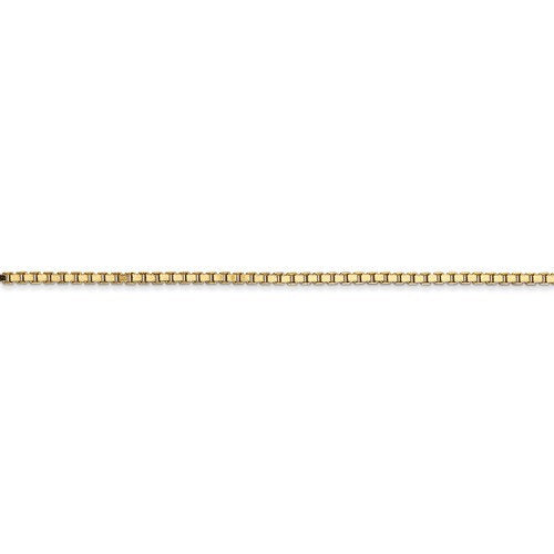 14K Yellow Gold 1.5 mm Polished Box Bracelet Anklet Choker Necklace Pendant Chain