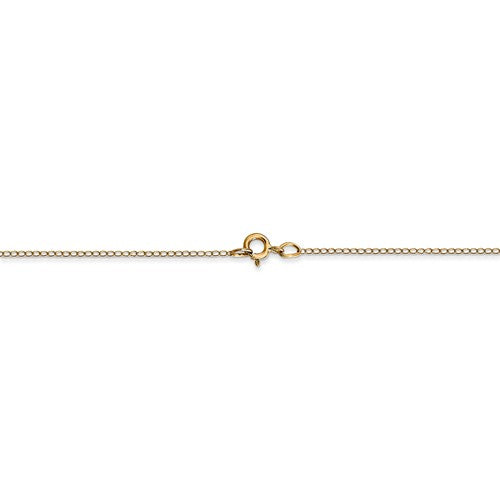 14k Yellow Gold 0.5mm Thin Curb Bracelet Anklet Necklace Choker Pendant Chain