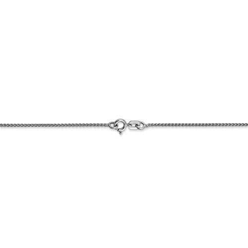 14k White Gold 1mm Spiga Wheat Bracelet Anklet Choker Necklace Pendant Chain