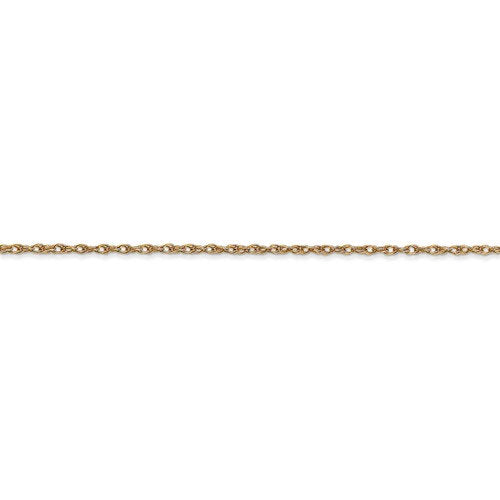 14k Yellow Gold 1.15mm Cable Rope Bracelet Anklet Necklace Choker Pendant Chain