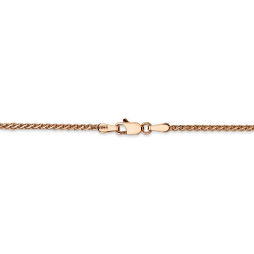 14k Rose Gold 1.4mm Diamond Cut Spiga Wheat Bracelet Anklet Choker Necklace Pendant Chain