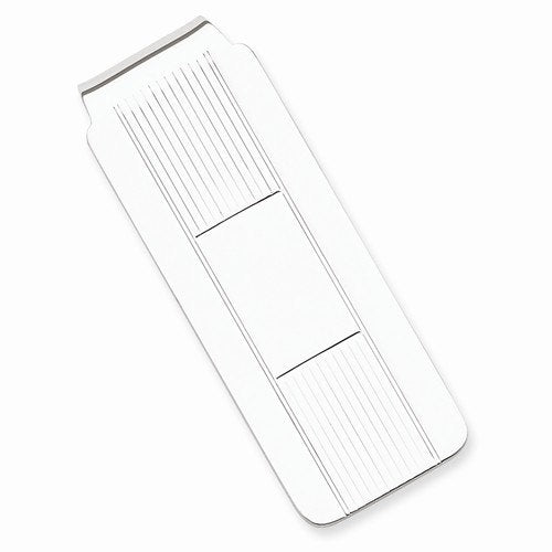 Engravable Solid Sterling Silver Money Clip Personalized Engraved Monogram