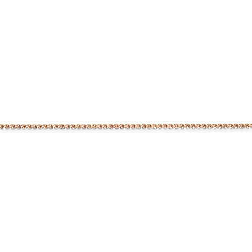 14k Rose Gold 1.4mm Diamond Cut Cable Choker Necklace Pendant Chain