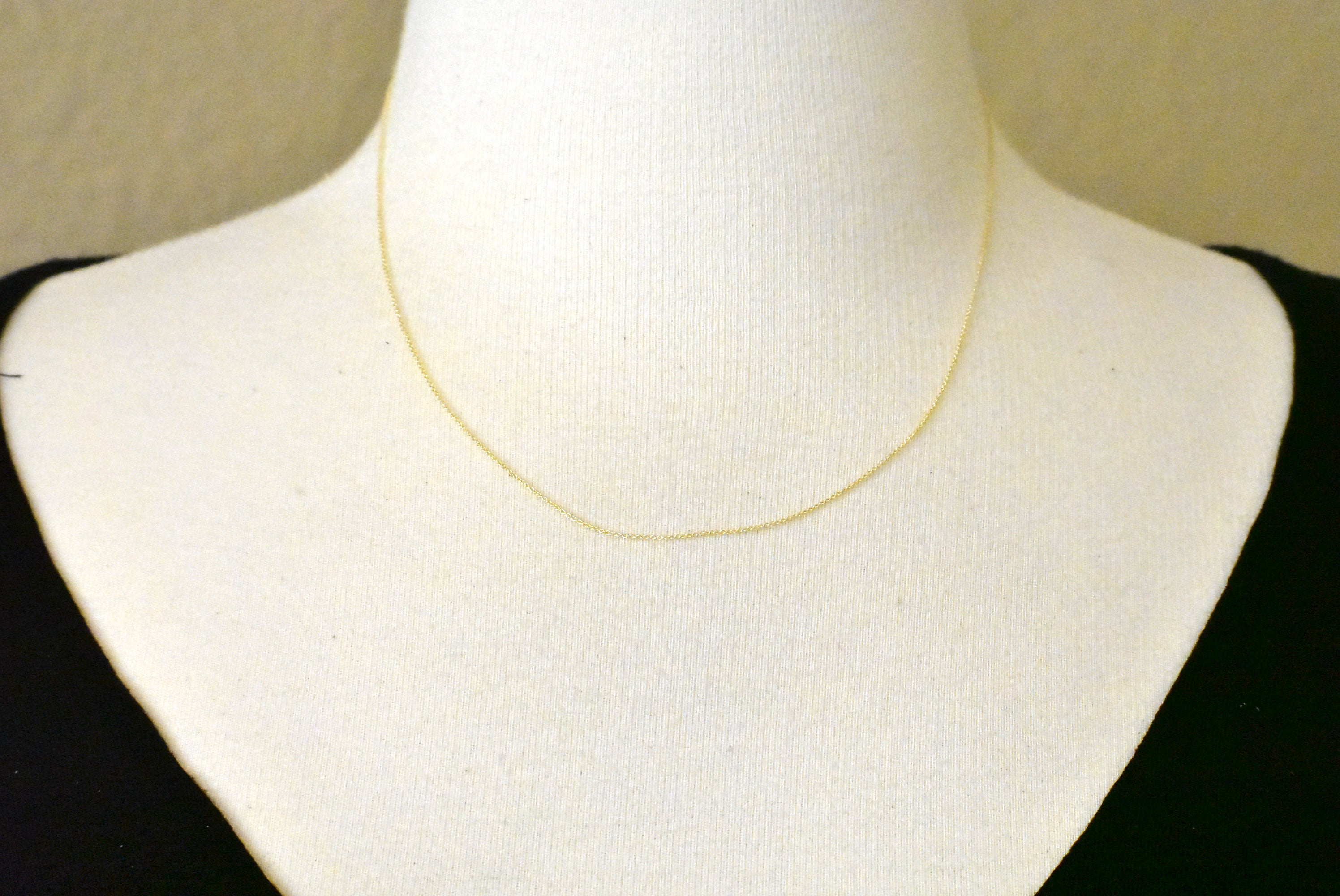 14k Yellow Gold 0.75mm Polished Cable Bracelet Anklet Choker Necklace Pendant Chain