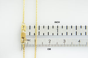 14K Yellow Gold 1mm Spiga Wheat Bracelet Anklet Necklace Pendant Chain