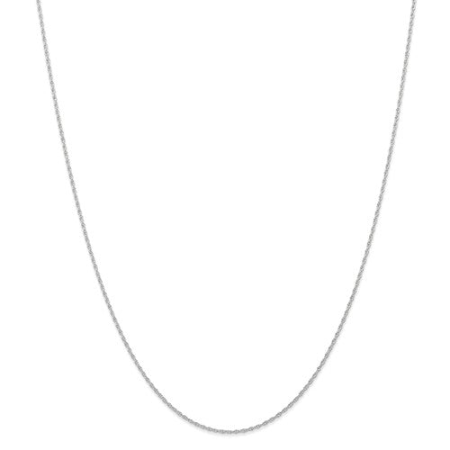14k White Gold 0.95mm Cable Rope Necklace Choker Pendant Chain