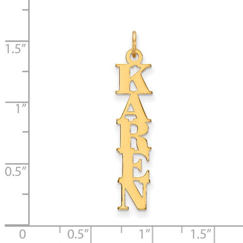 14k 10k Yellow Rose White Gold Sterling Silver Nameplate Pendant Charm Personalized