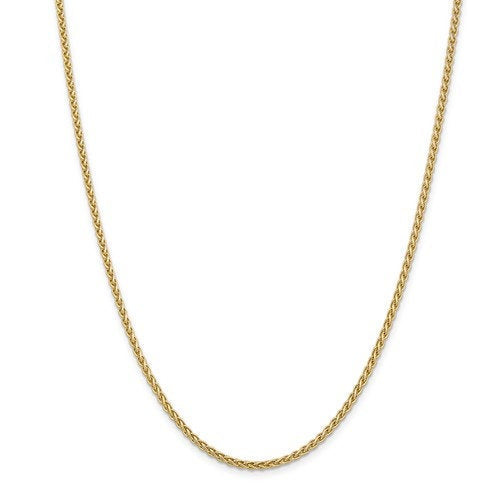 14K Yellow Gold 2.8mm Spiga Wheat Bracelet Anklet Choker Necklace Pendant Chain