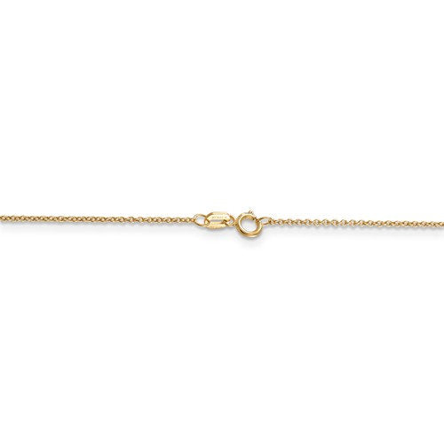 14k Yellow Gold 0.90mm Cable Bracelet Anklet Choker Necklace Pendant Chain Spring Ring Clasp