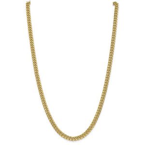 14k Yellow Gold 6mm Miami Cuban Link Bracelet Anklet Choker Necklace Pendant Chain