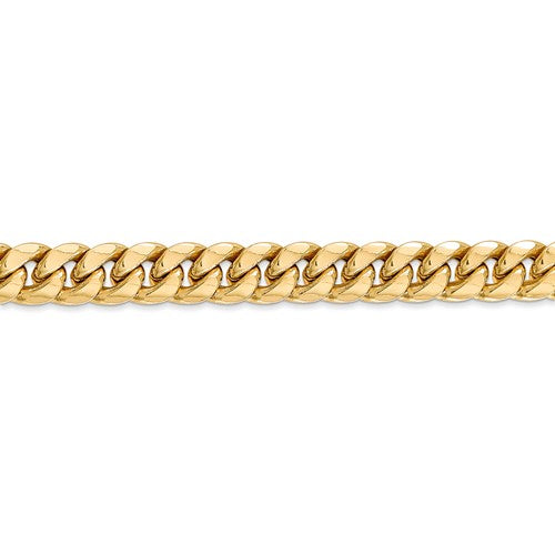 14k Yellow Gold 7.3mm Miami Cuban Link Bracelet Anklet Choker Necklace Pendant Chain
