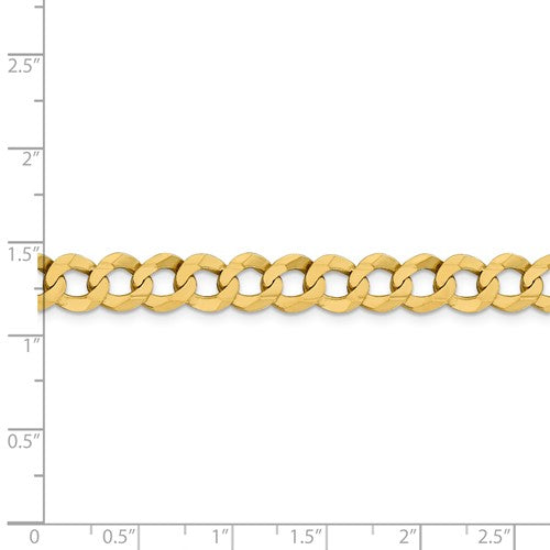 14K Yellow Gold 8.3mm Flat Cuban Link Bracelet Anklet Choker Necklace Pendant Chain