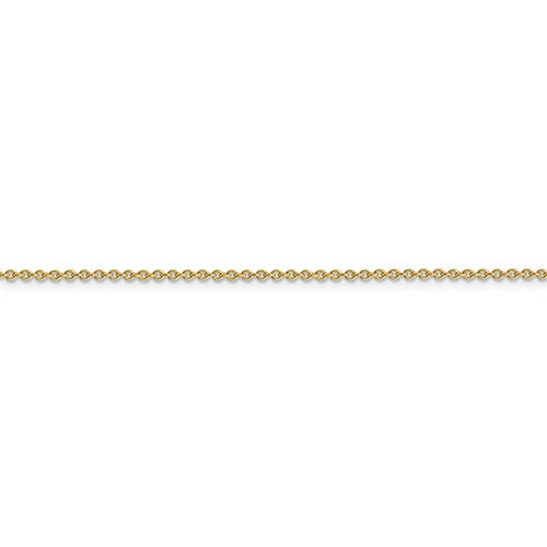 14k Yellow Gold 1.4mm Cable Bracelet Anklet Choker Necklace Pendant Chain