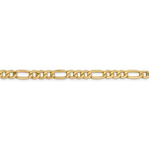 14K Yellow Gold 6mm Lightweight Figaro Bracelet Anklet Choker Necklace Chain