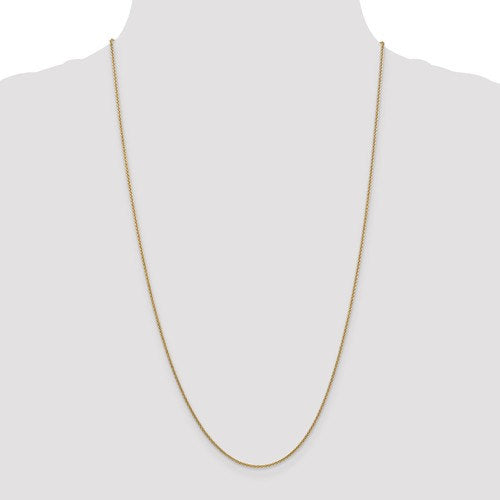14k Yellow Gold 1.5mm Cable Bracelet Anklet Choker Necklace Pendant Chain