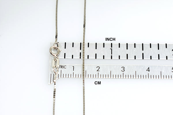 14k White Gold 0.7mm Box Bracelet Anklet Necklace Choker Pendant Chain