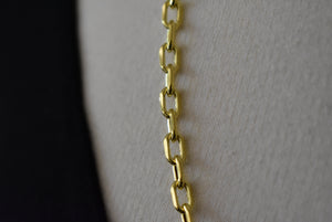 14K Yellow Gold 4.9mm Open Link Cable Bracelet Anklet Necklace Pendant Chain