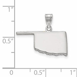 14K Gold or Sterling Silver Oklahoma OK State Map Pendant Charm Personalized Monogram