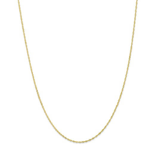 10k Yellow Gold 1.10mm Singapore Twisted Bracelet Anklet Choker Pendant Necklace Chain