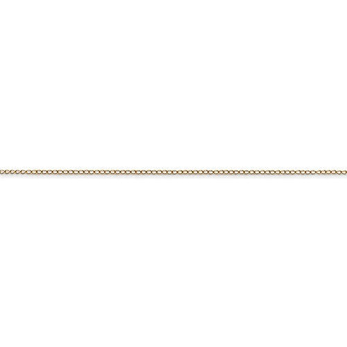 14k Yellow Gold 0.42mm Thin Curb Bracelet Anklet Necklace Choker Pendant Chain