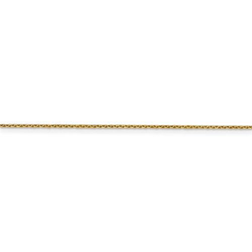 14K Yellow Gold 0.95mm Diamond Cut Cable Layering Bracelet Anklet Choker Necklace Pendant Chain