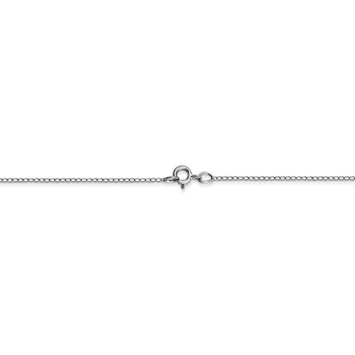 14k White Gold 0.42mm Thin Curb Bracelet Anklet Necklace Choker Pendant Chain