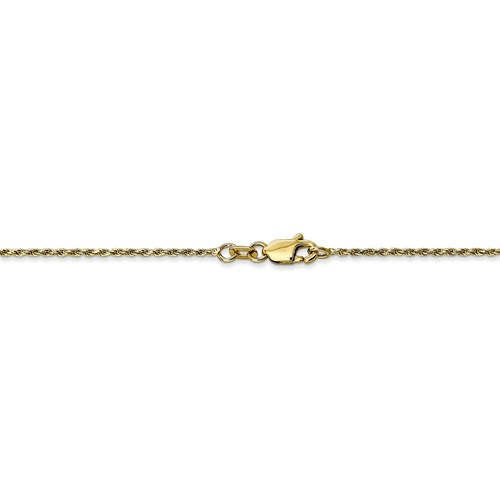 10k Yellow Gold 1.15mm Polished Diamond Cut Rope Bracelet Anklet Choker Pendant Necklace Chain