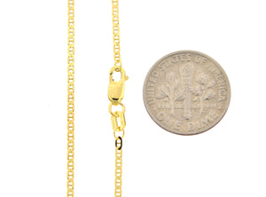 14K Yellow Gold 1.5mm Flat Anchor Link Bracelet Anklet Choker Necklace Pendant Chain