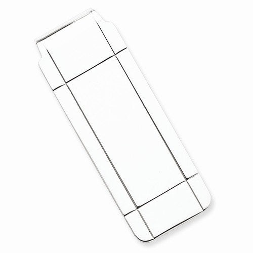 Engravable Solid Sterling Silver Money Clip Personalized Engraved Monogram QQ39 - BringJoyCollection