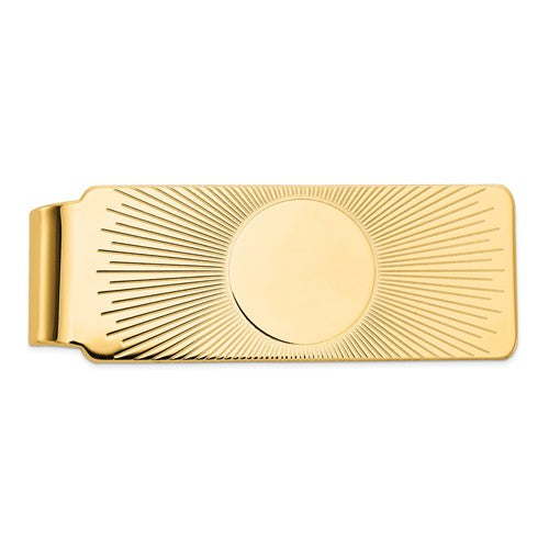 14k Solid Yellow Gold Money Clip Personalized Engraved Monogram