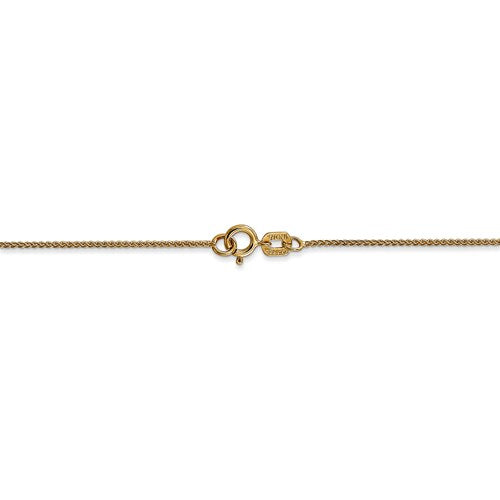 14k Yellow Gold 0.8mm Spiga Wheat Bracelet Anklet Choker Necklace Pendant Chain