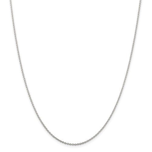 Sterling Silver Rhodium Plated 1.50mm Cable Necklace Choker Pendant Chain