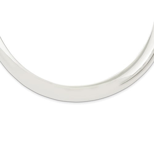Sterling Silver 12mm Neck Collar Choker Necklace Slip On