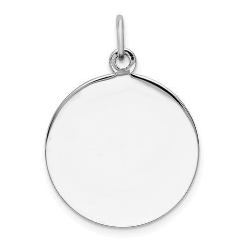 Sterling Silver 18mm Circle Round Disc Pendant Charm Personalized Engraved