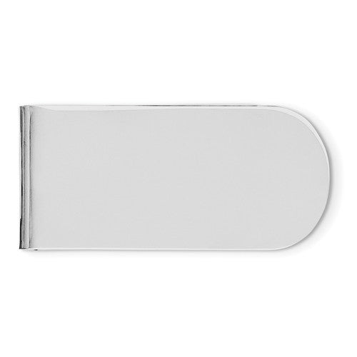 Engravable Solid Sterling Silver Money Clip Personalized Engraved Monogram JJ083 - BringJoyCollection