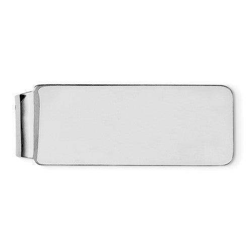 Engravable Solid Sterling Silver Money Clip Personalized Engraved Monogram JJ071 - BringJoyCollection