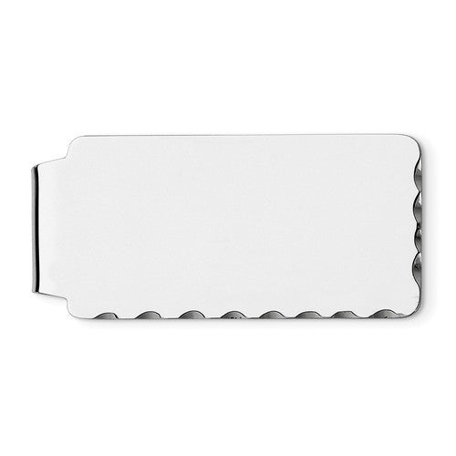 Engravable Solid Sterling Silver Money Clip Personalized Engraved Monogram JJ81 - BringJoyCollection