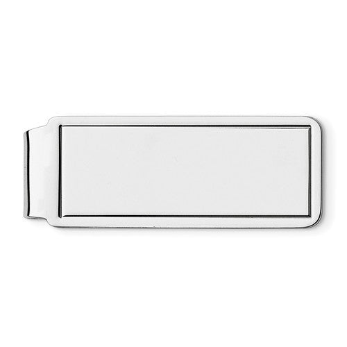 Engravable Solid Sterling Silver Money Clip Personalized Engraved Monogram JJ71 - BringJoyCollection