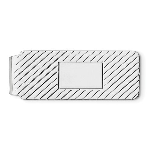 Engravable Solid Sterling Silver Money Clip Personalized Engraved Monogram JJ79 - BringJoyCollection