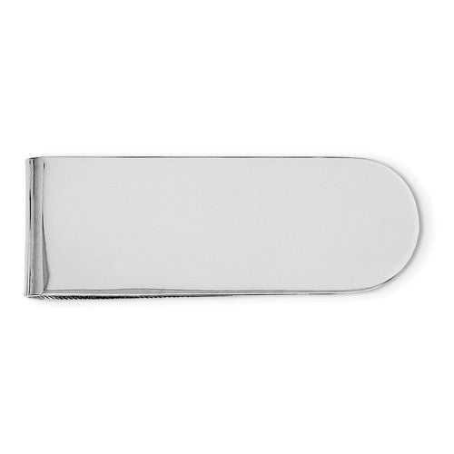 Engravable Solid Sterling Silver Money Clip Personalized Engraved Monogram JJ618 - BringJoyCollection