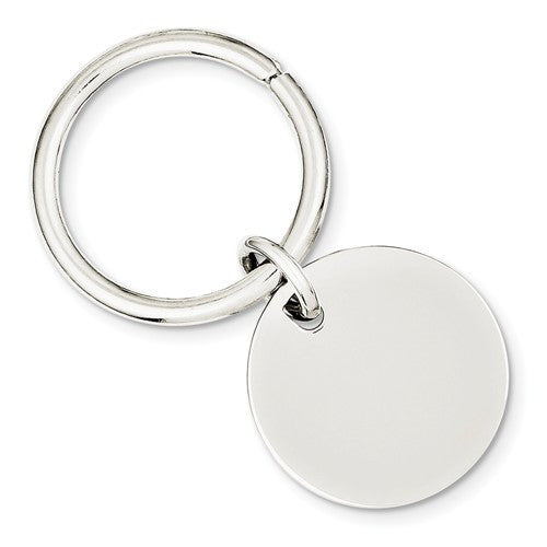 Engravable Silver Key Holder Ring Keychain Personalized Engraved Monogram - BringJoyCollection