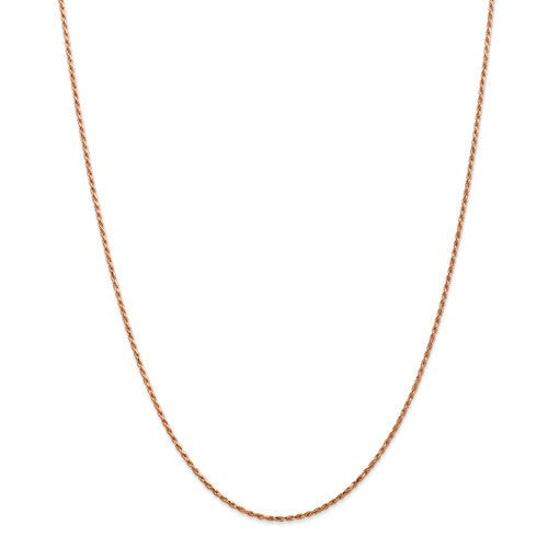14k Rose Gold 1.5mm Rope Bracelet Anklet Necklace Pendant Chain I109 - BringJoyCollection