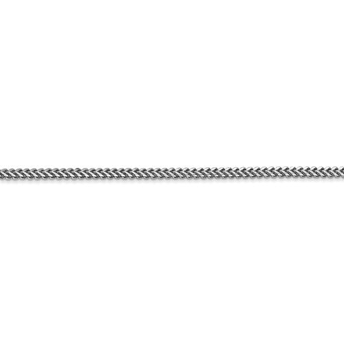 14K White Gold 1.5mm Franco Bracelet Anklet Necklace Pendant Charm