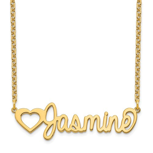 14k 10k Gold Sterling Silver Nameplate Necklace Personalized Customized